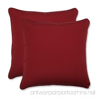 Pillow Perfect Decorative Red Solid Toss Pillows Square 2-Pack - B0031P1CA8
