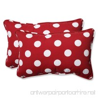 Pillow Perfect Decorative Red/White Polka Dot Toss Pillows  Rectangle  2-Pack - B003VSVNJA