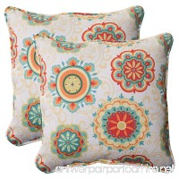 Pillow Perfect Indoor/Outdoor Fairington Aqua Corded Throw Pillow  18.5-Inch  Set of 2 - B00BPU7SK4