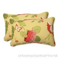 Pillow Perfect Indoor/Outdoor Risa Corded Rectangular Throw Pillow  Lemonade  Set of 2 - B00BU6VVRE