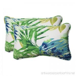 Pillow Perfect Outdoor/Indoor Soleil Rectangular Throw Pillow (Set of 2) Blue/Green - B01BJ6NXTS