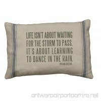 Primitives by Kathy 3-Stripe Dance in The Rain Linen Pillow 10 by 15-Inch - B00864APAM