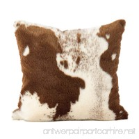 SARO LIFESTYLE Lait Design Urban Faux Cowhide Poly Filled Pillow 18 Brown - B0765G5BCH