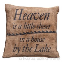 Small Burlap Heaven/Lake Pillow (8x8) - B01BDUPUHI