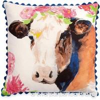 The Pioneer Woman Cow Throw Pillow Decorative Toss Farmhouse Decor 16x16 - B076CRC19N
