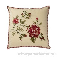 WAVERLY 14771020X020TSN Norfolk 20-Inch by 20-Inch Embroidered Decorative Pillow  Tea Stain - B01MR3PBAM