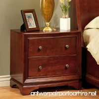 Abbyson Living Berkton 2 Drawer Wood Nightstand in Walnut - B00W5GXGTE