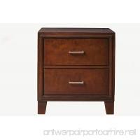 Furniture of America Parlin 2-Drawer Nightstand/Bedside Table Brown Cherry - B00BTB5IWE