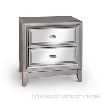Furniture of America Sterling Contemporary Nightstand  Silver - B00UNBK9WU