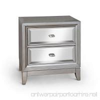 Furniture of America Sterling Contemporary Nightstand Silver - B00UNBK9WU