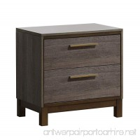 Furniture of America Wendler Modern Night Stand One Size Antique Gray - B016OPWCJG