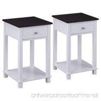 Giantex Set Of 2 Night Stand for Bedrooms End Table with Storage Drawer & with Lower Shelf Storage Bedside Cabinet - B078BGWQKL