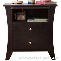 HOMES: Inside + Out ioHOMES Contemporary Kassio Nightstand  Espresso - B00YPZAOVQ