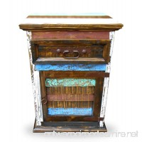Mansion Rustic Nightstands with 1 Drawer and 1 Door Free Shipping Multicolor Distressed Finish Cabana Styled (RIGHT HINGED) - B01KSJUQG0