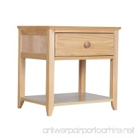 Max & Lily Solid Wood Nightstand  Natural - B07FDH4SRJ