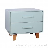 Porthos Home Juniper 2 Drawer Nightstand  Aqua - B06XG7ZVGJ