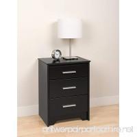 Prepac Black Coal Harbor 3 Drawer Tall Nightstand - B00562XZ7W