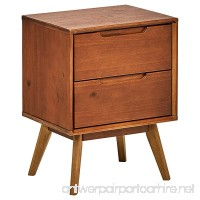 "Rivet Mid-Century Stark 2-Drawer Nightstand  24"" H  Walnut - B075YZ16V4"