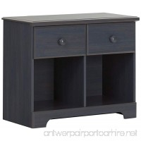 South Shore Summer Breeze 2-Drawer Double Nightstand  Blueberry with Wooden Knobs - B01EYDP9SG