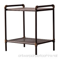 Starsong NS002 Retro Antique Industrial Vintage Nightstand Bronze - B07B6HTMTS
