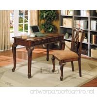 ACME 09650 2-Piece Aristocrat Writing Desk and Chair  Dark Brown Cherry Finish - B005G4US7K