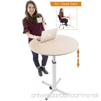 Adjustable Height Multifunctional Round Table - Perfect use for Cocktail Table  Sit to Stand Desk  Side Table - and More! Large Surface - B077ZBRG4J