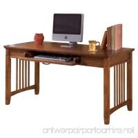 Ashley Furniture Signature Design - Cross Island Large Office Desk - Drop-Down Keyboard Tray - Casual - Medium Brown Finish - B003LA367U