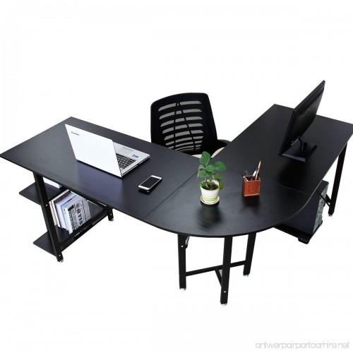 bizzoelife 67 57 large l shaped corner desk computer gaming
