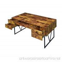 Coaster Analiese Industrial Antique Nutmeg Writing Desk with Four Drawers - B00P8DCGAG