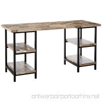 Coaster Skelton Industrial Salvaged Cabin Writing Desk with Metal Frame - B018FNC9K2
