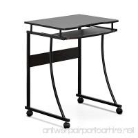 Furinno FCG295EX Besi Metal Frame Computer Desk with Keyboard Tray  Espresso - B071DV6VG3