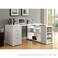 Monarch Specialties Hollow-Core Left or Right Facing Corner Desk White - B008VD05WG