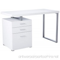Monarch Specialties Hollow-Core Left or Right Facing Desk 48-Inch Length White - B008VCZFK4