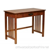 Office Star Sierra Solid Wood Writing Desk with Drawer  Ash Finish - B00IPZG46Q