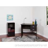 OneSpace 50-7005ES Modern Writing Desk with 2 Side Drawers  Espresso - B00ZUJ2XKG