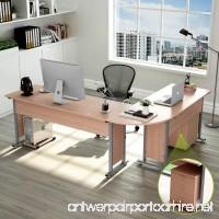 "Tribesigns 87"" Largest Modern L-Shaped Desk with Return and Mobile File Cabinet  Corner Computer Desk Study Table Workstation for Home Office Wood & Metal with Drawers  Salt Oak - B07DXS9Z6J"