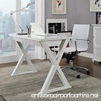 WE Furniture 48 Storage Computer Desk White - B00FFU9NYO