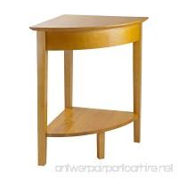 Winsome Wood Corner Desk with Shelf  Honey - B000NPSN88