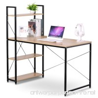 WOLTU Business Desk Top Computer Gaming Station Computer Desk for Home Use with 4 Tier BookShelves - B075MC6CM9