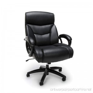 Essentials Big and Tall Leather Executive Chair - High-Back Computer/Office Chair Black (ESS-6040-BLK) - B06XR917TB