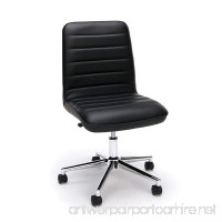 Essentials Leather Mid-Back Office Chair - Armless Leather Computer Chair  Black (ESS-2080-BLK) - B0716S2TFP
