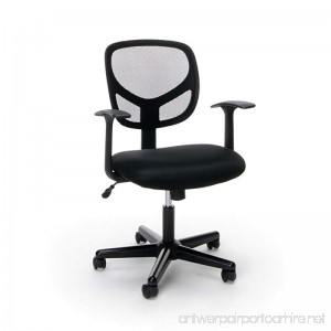 Essentials Swivel Mid Back Mesh Task Chair with Arms - Ergonomic Computer/Office Chair (ESS-3001) - B01G2ELLGE