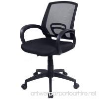 Goplus Computer Office Chair Ergonomic Mesh Desk Task Midback Swivel Chair  Black - B0157LPND0