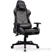 GTRACING Executive High-Back Gaming Chair Computer Office Chair PU Leather Swivel Chair Racing Chair (GT007-Gray) - B07CKTGR6N