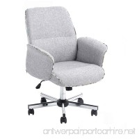 Homy Casa Leisure Grey Fabric Home Office Chair Height Adjustable Chair - B01MDRBPIP