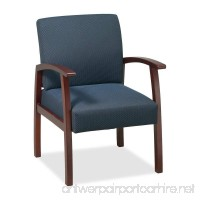 Lorell Guest Chairs 24 by 25 by 35-1/2-Inch Cherry/Midnight Blue - B00359J6A8