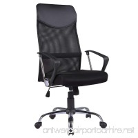 Mecor High Back Office Chair with Ergonomic PU Headrest and Armrests  Breathable Mesh Desk Chair Height Adjustable  360 Degree Executive Swivel Chairs with Wheel Casters  Black - B07DFK5NP3