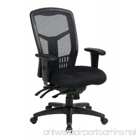 Office Star High Back ProGrid Back FreeFlex Seat with Adjustable Arms and Multi-Function and Seat Slider Black Managers Chair - B00450P182