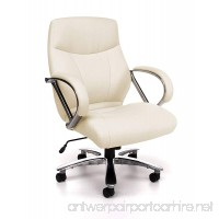 OFM Avenger Series Big and Tall Leather Executive Chair - Black Mid Back Computer Chair with Arms  Cream (811-LX-CRM) - B009DSIX4U