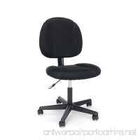 OFM Essentials Swivel Upholstered Armless Task Chair - Ergonomic Computer/Office Chair Black (ESS-3060) - B01B4AOSRU